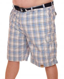 Мужские летние шорты баталы в клетку - купить недорог