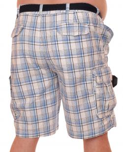 Летние шорты баталы в клетку - купить недорого