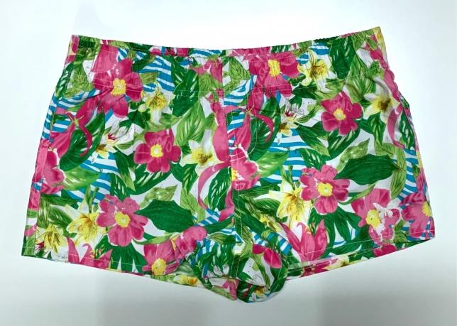 Летние шорты женские с цветочным принтом
