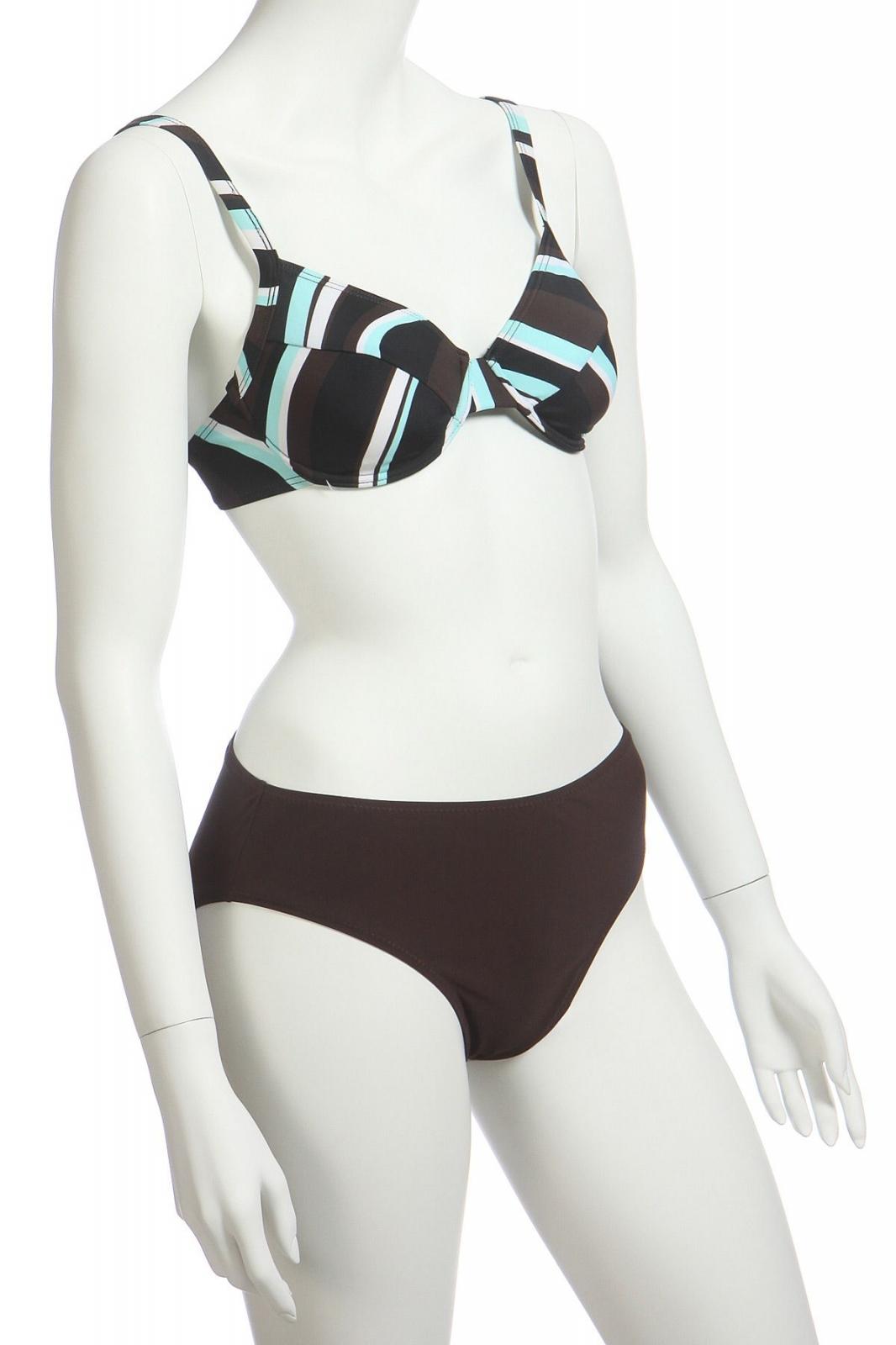 Летний купальник с коричневыми плавками