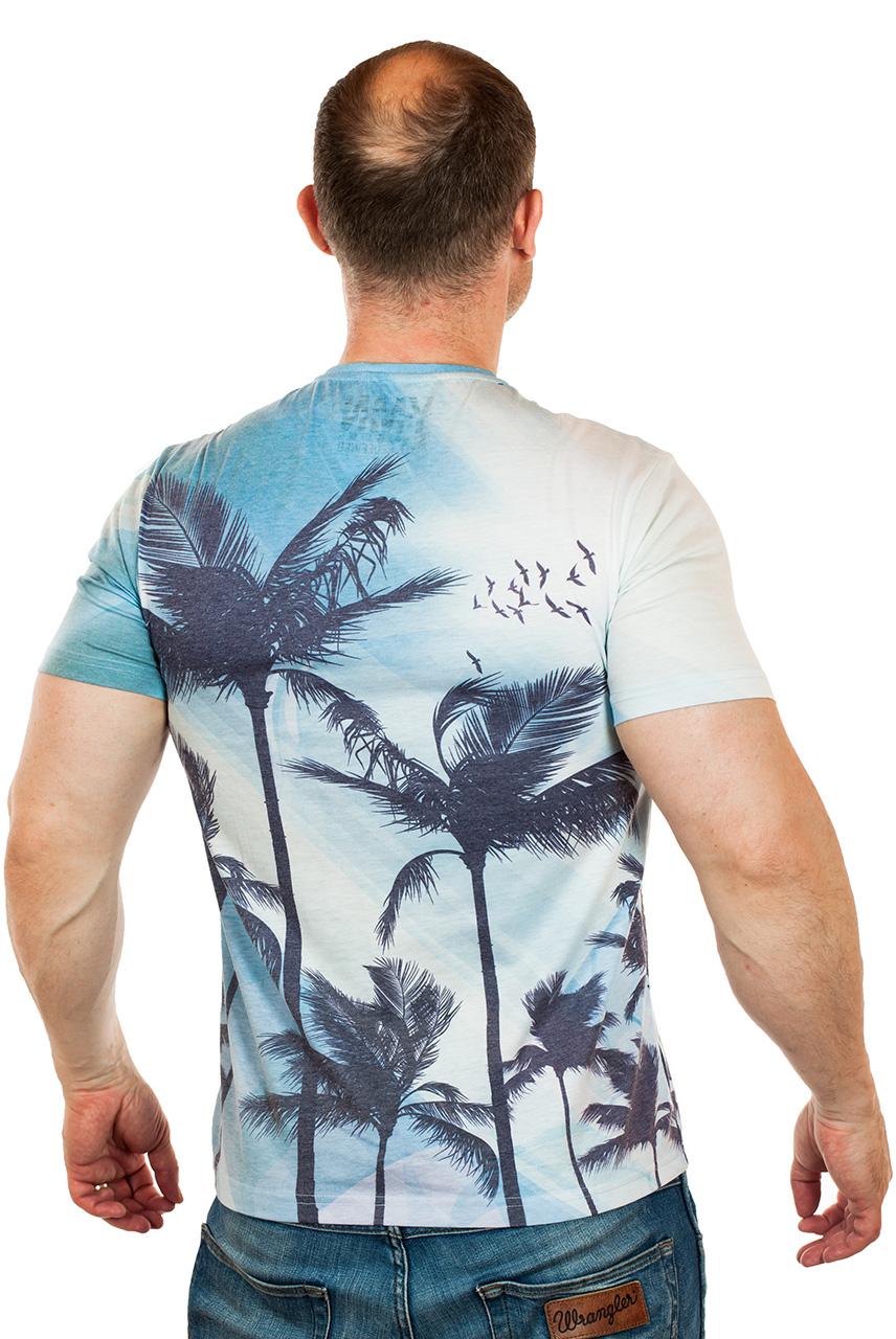 Летняя мужская футболка «Palm Beach, California» от ТМ Max Young Man для сезона отпусков