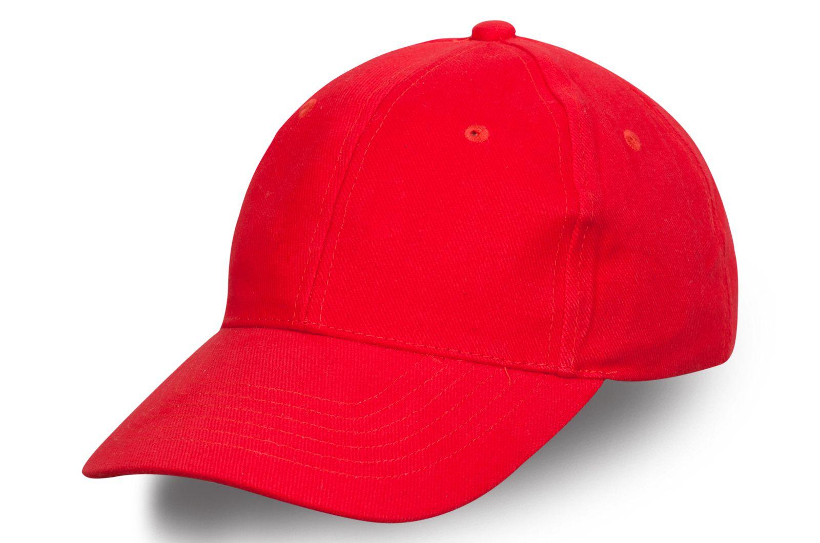 Летняя бейсболка красная