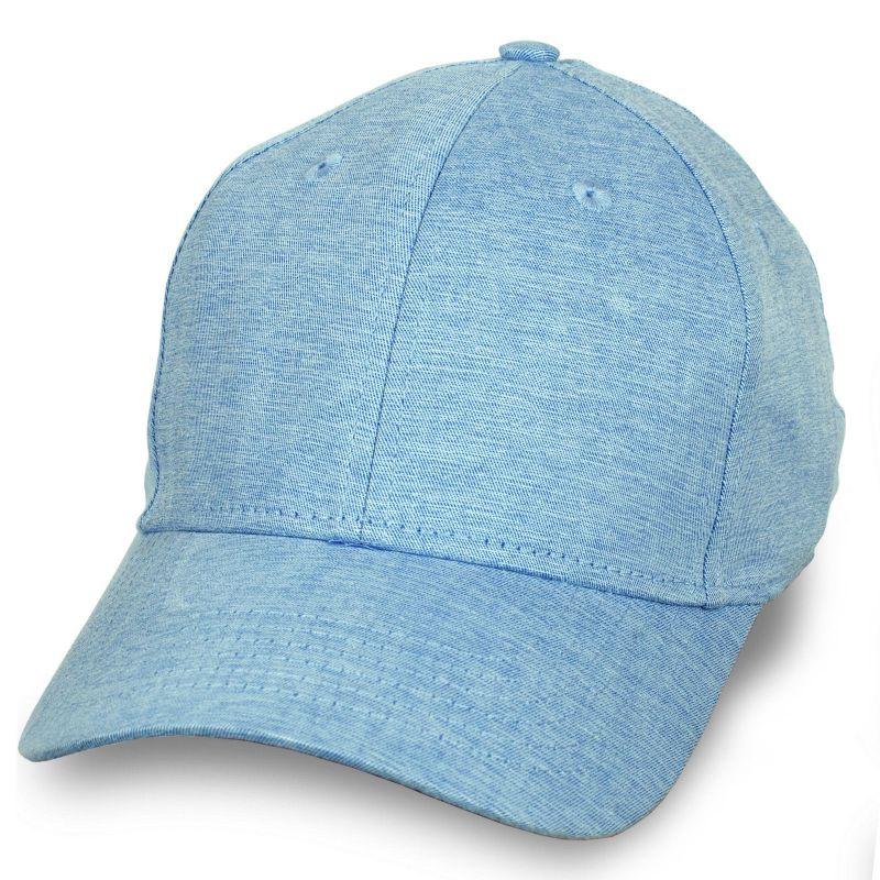 Летняя бейсболка цвета голубой меланж