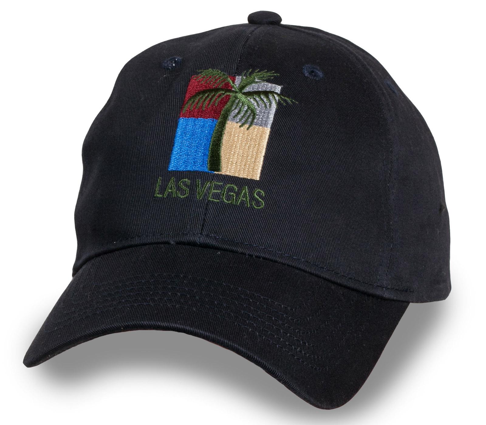 Летняя черная бейсболка Las Vegas