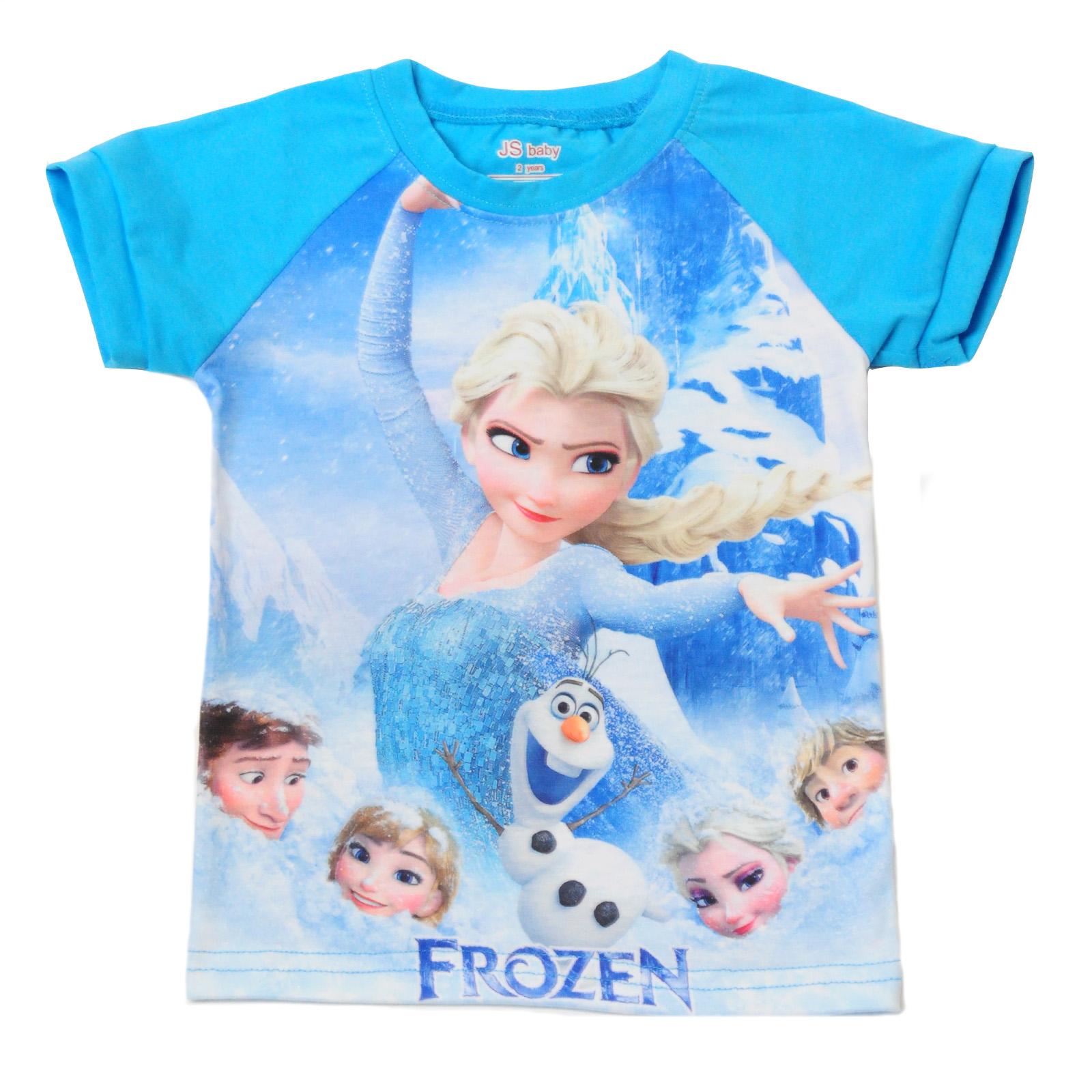 """Летняя футболка для девочки """"Elsa Frozen"""""""
