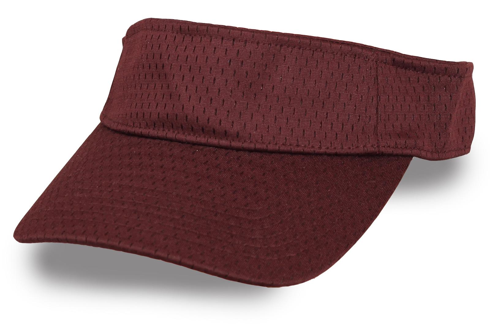 Летняя коричневая кепка козырек