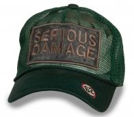 Летняя мужская бейсболка Serious Damage- сетчатая тулья обеспечивает дополнительную вентиляцию