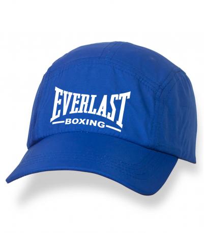 Летняя синяя бейсболка с термонаклейкой Everlast Boxing