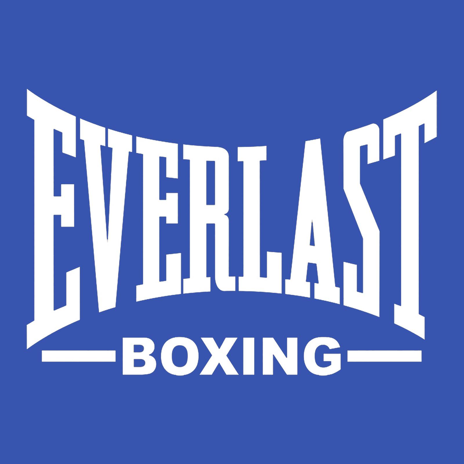 Купить летнюю синюю бейсболку с термонаклейкой Everlast Boxing выгодно оптом