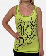 Лимонная женская майка Harley-Davidson
