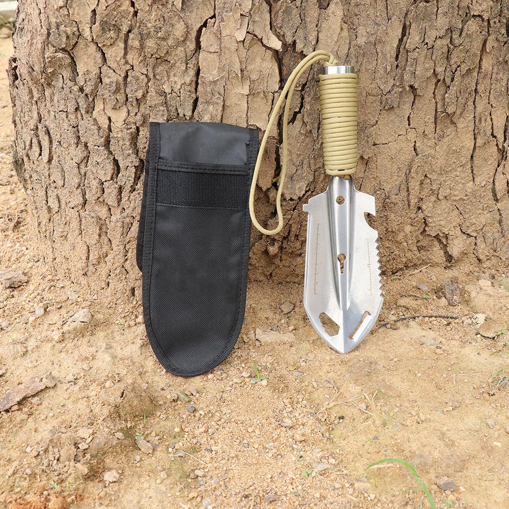 Лопатка-мультитул для сада, кемпинга, активного отдыха (металлик)