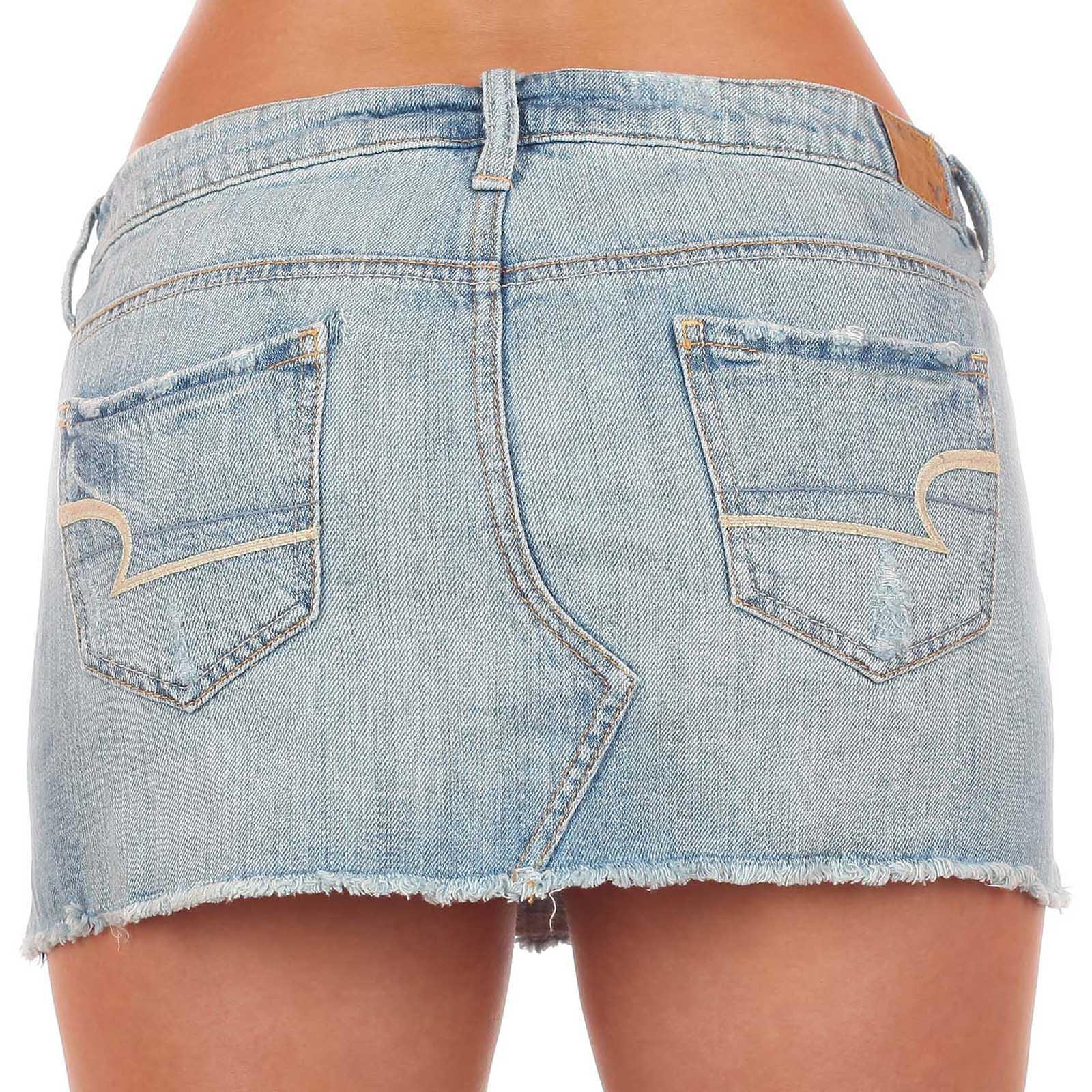 Лучшая джинсовая юбочка в твоем городе от American Eagle®. ОСТОРОЖНО! Возбуждает мужчин!