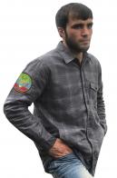 Лучшая мужская рубашка с вышитым флагом Дагестана