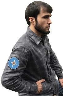 Лучшая рубашка с вышитым шевроном МЧС - купить в Военпро