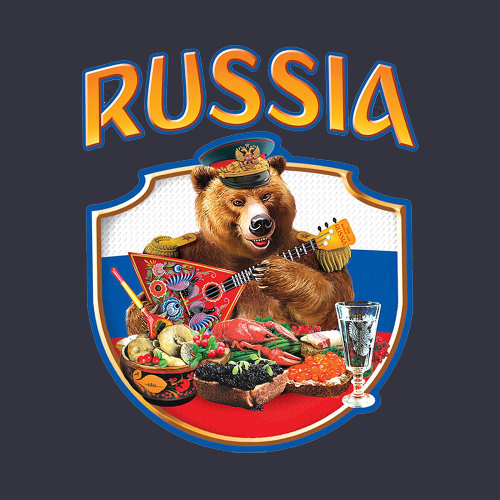 Купить лучшую темную бейсболку с термонаклейкой Russia с доставкой в ваш город