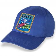 Лучшая ярко-синяя бейсболка с термонаклейкой ВКС