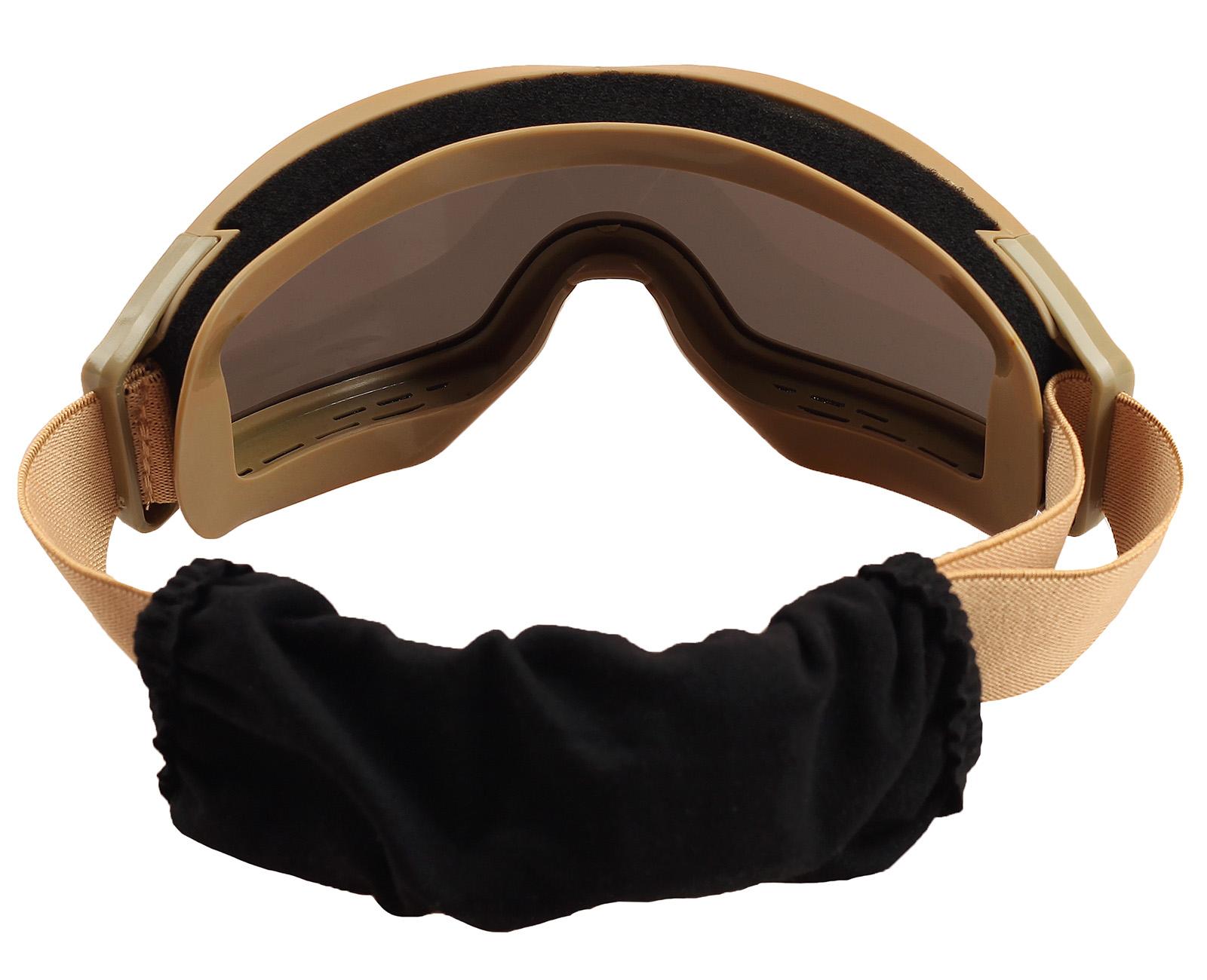 Купить лучшие тактические очки хаки-песок по лояльной цене