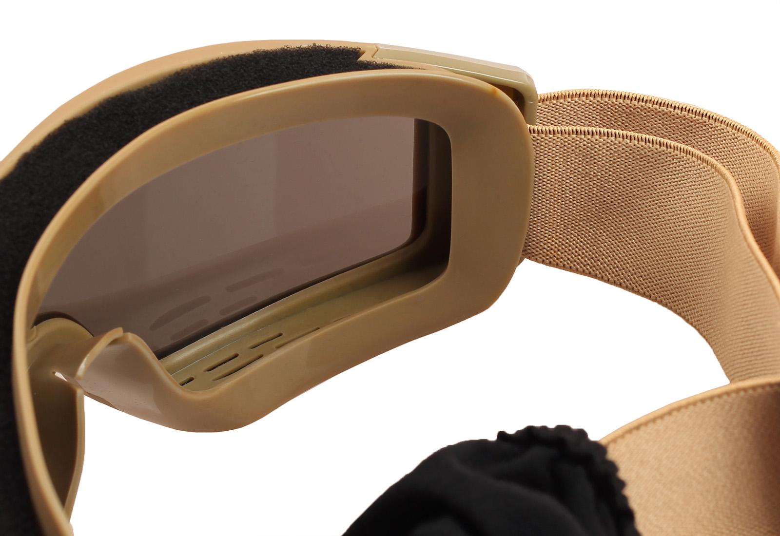 Заказать лучшие тактические очки хаки-песок низкой цене