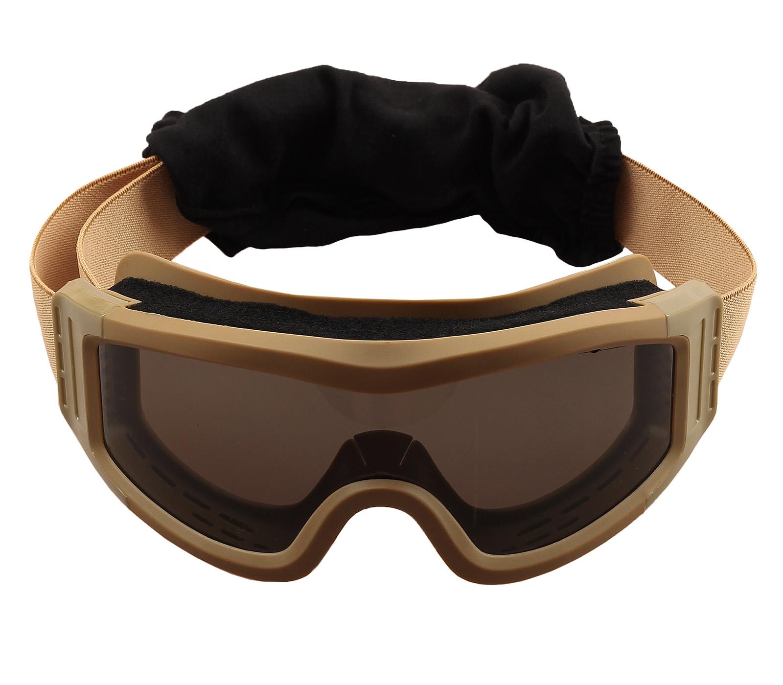 Купить лучшие тактические очки хаки-песок по привлекательной цене