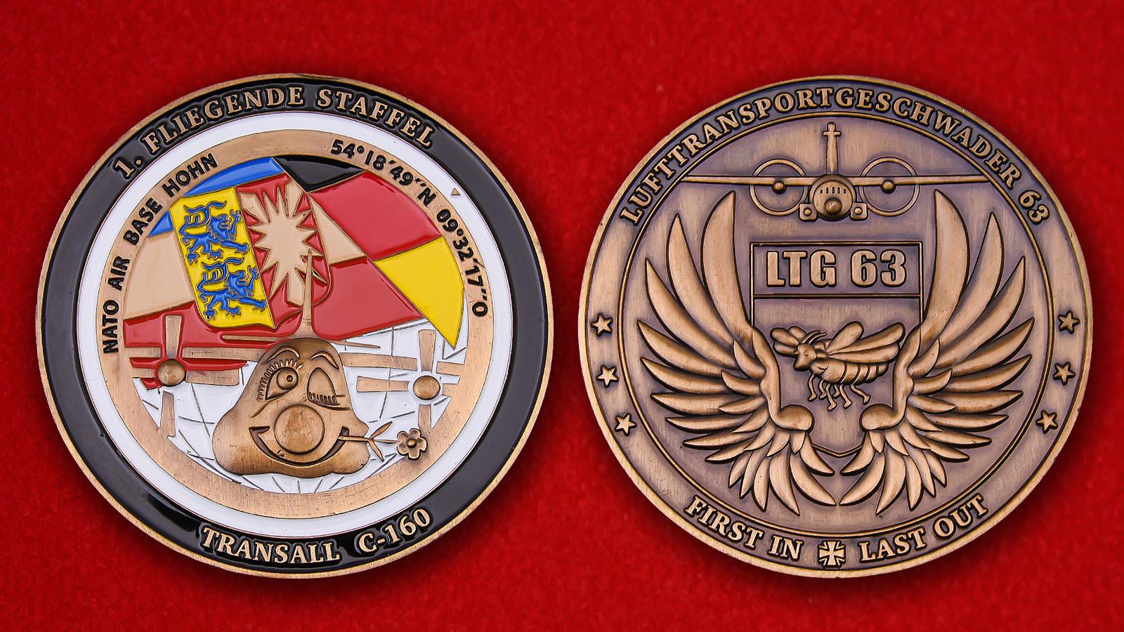 Luftwaffe 1 Fliegende Staffel Lufttransportgeschwader 63 Challenge Coin