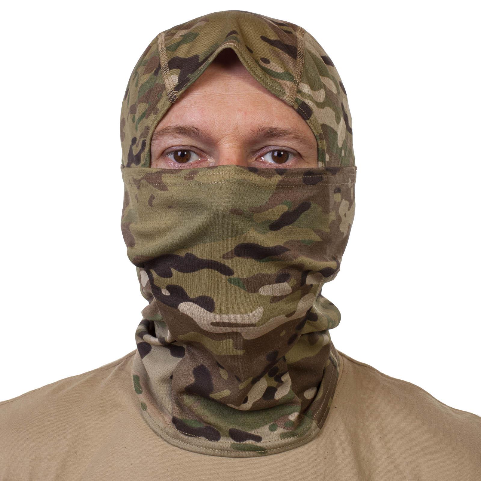 Армейская маска балаклава камуфляж Мультикам