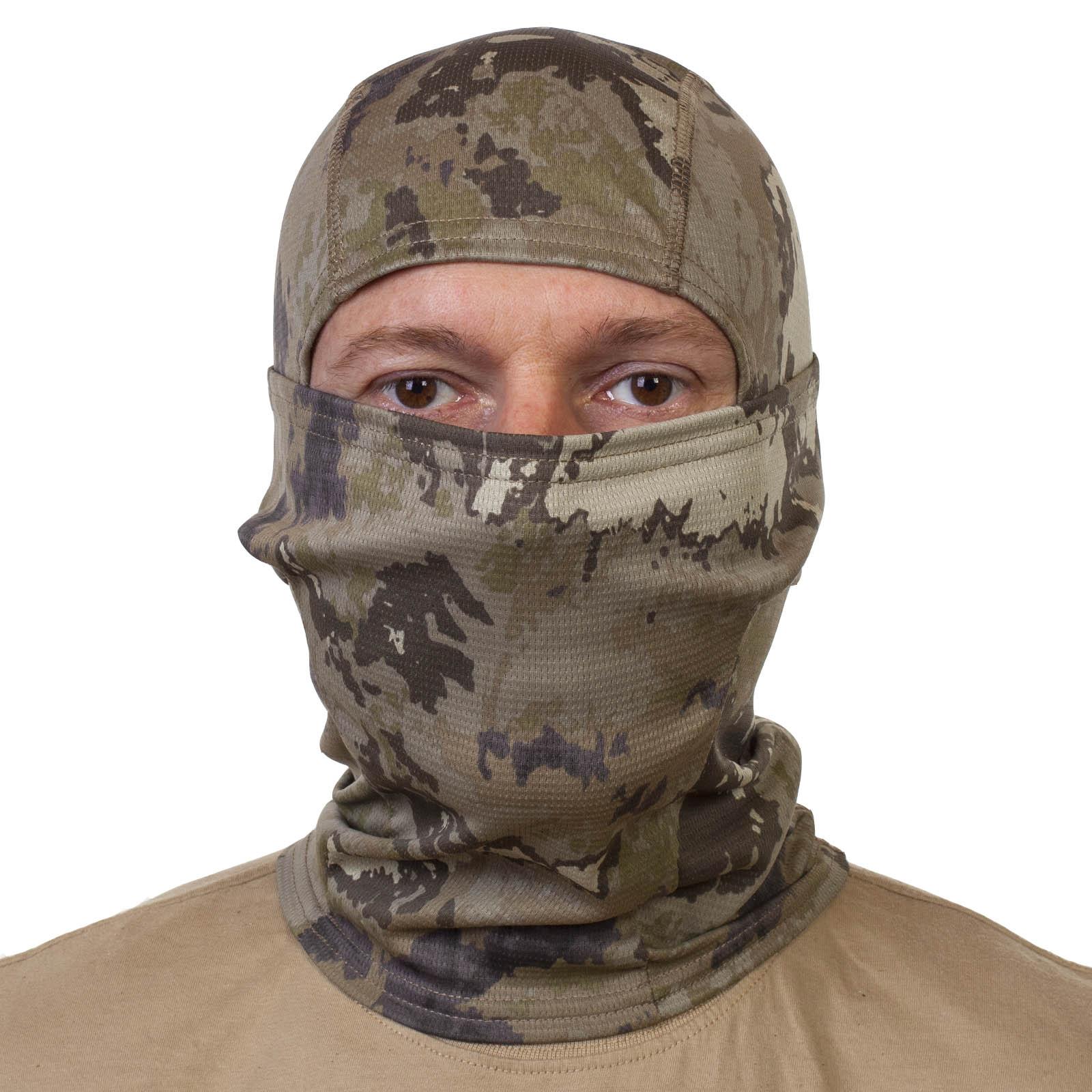 Военная маска балаклава Woodland.