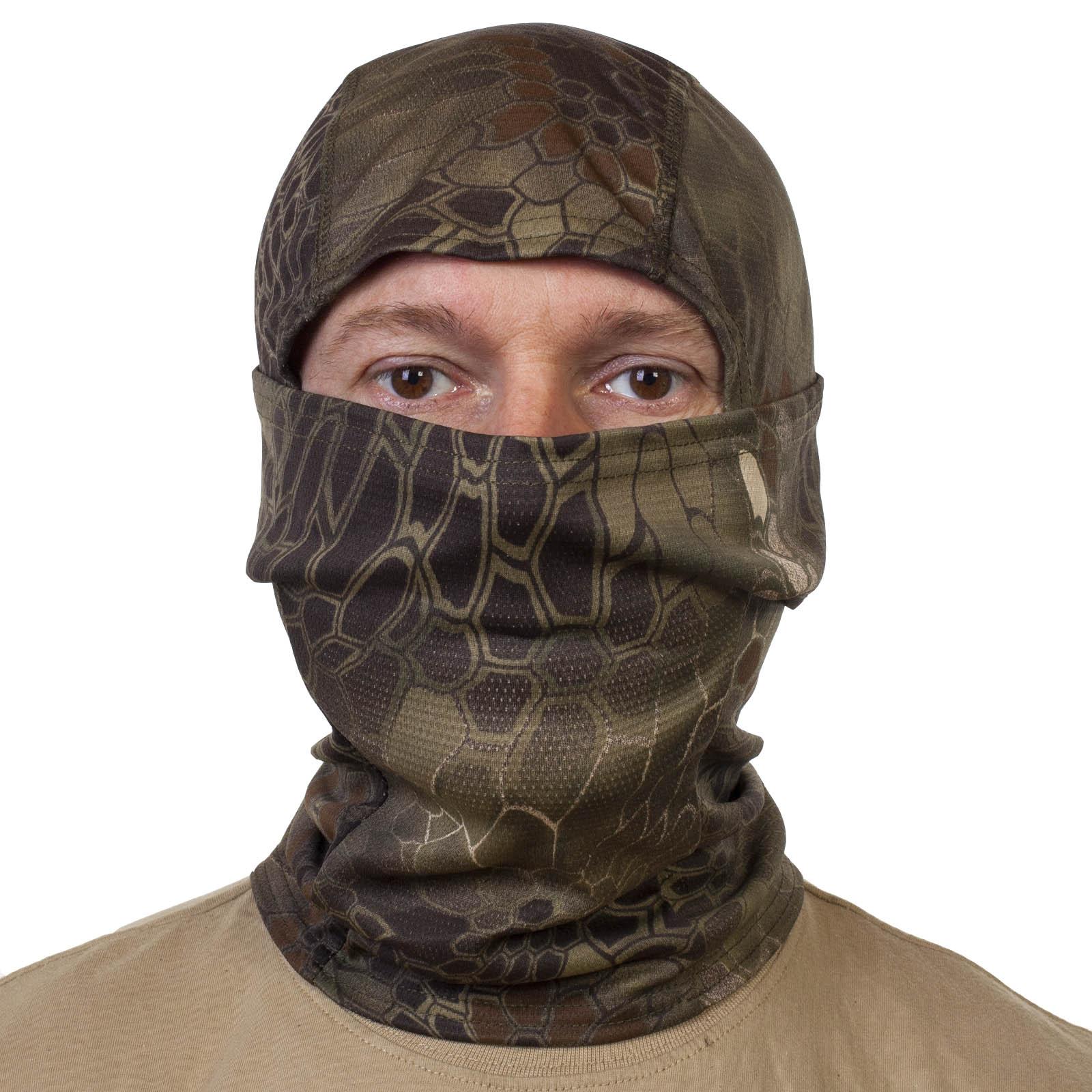 Эластичная маска подшлемник Kryptek Питон лес