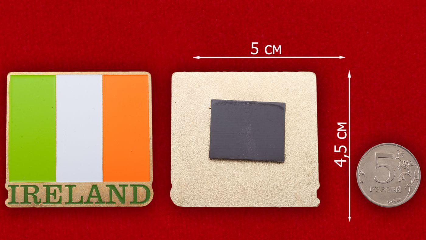 """Магнит """"Ирландия"""" - сравнительный размер"""