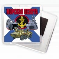 "Магнит на холодильник ""Морская пехота"""