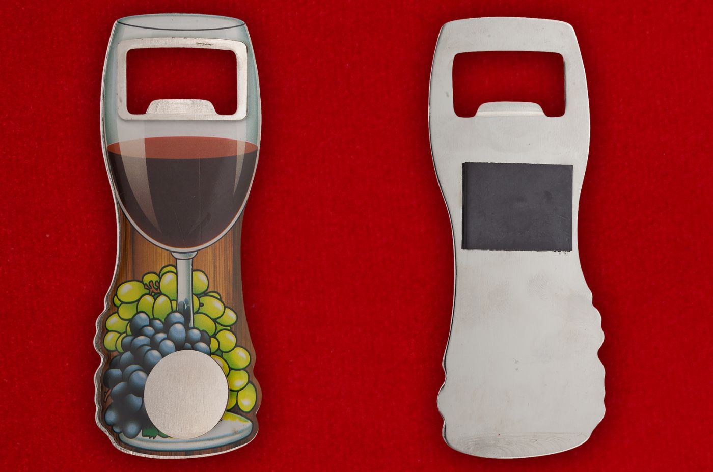 "Магнит-открывалка ""Бокал вина"" - общий вид"
