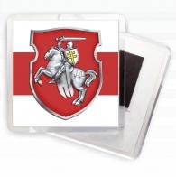 Магнит с бело-красно белым флагом Беларуси