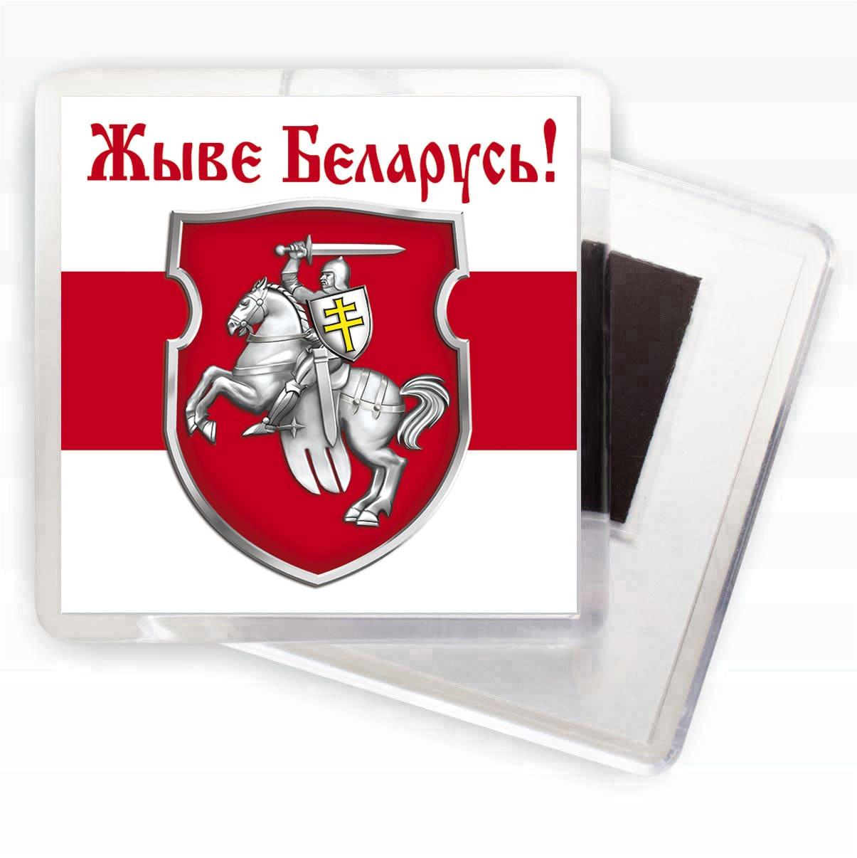 """Магнит """"Жыве Беларусь!"""" с Погоней"""