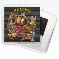 """Магнитик """"Россия"""" (Медведь с балалайкой)"""