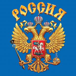 Майка с гербом России - цветной принт