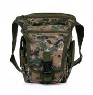 Маленькая мужская сумка на пояс или бедро