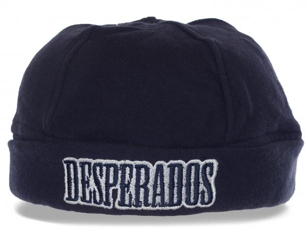 Маленькая мужская трикотажная шапка на флисе Desperados. Самое время купить. Количество ограничено
