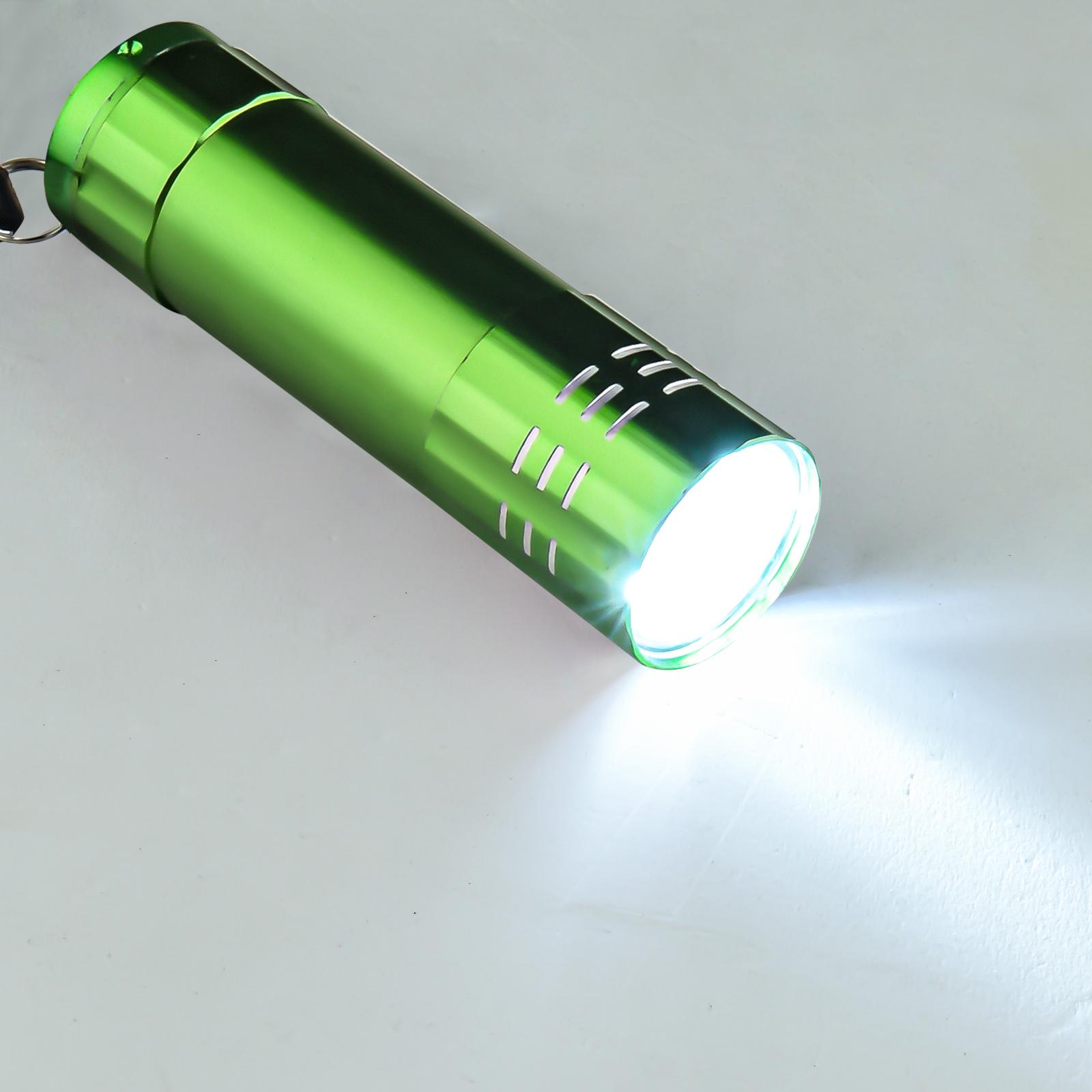 Малогабаритный светодиодный фонарик (зеленый)