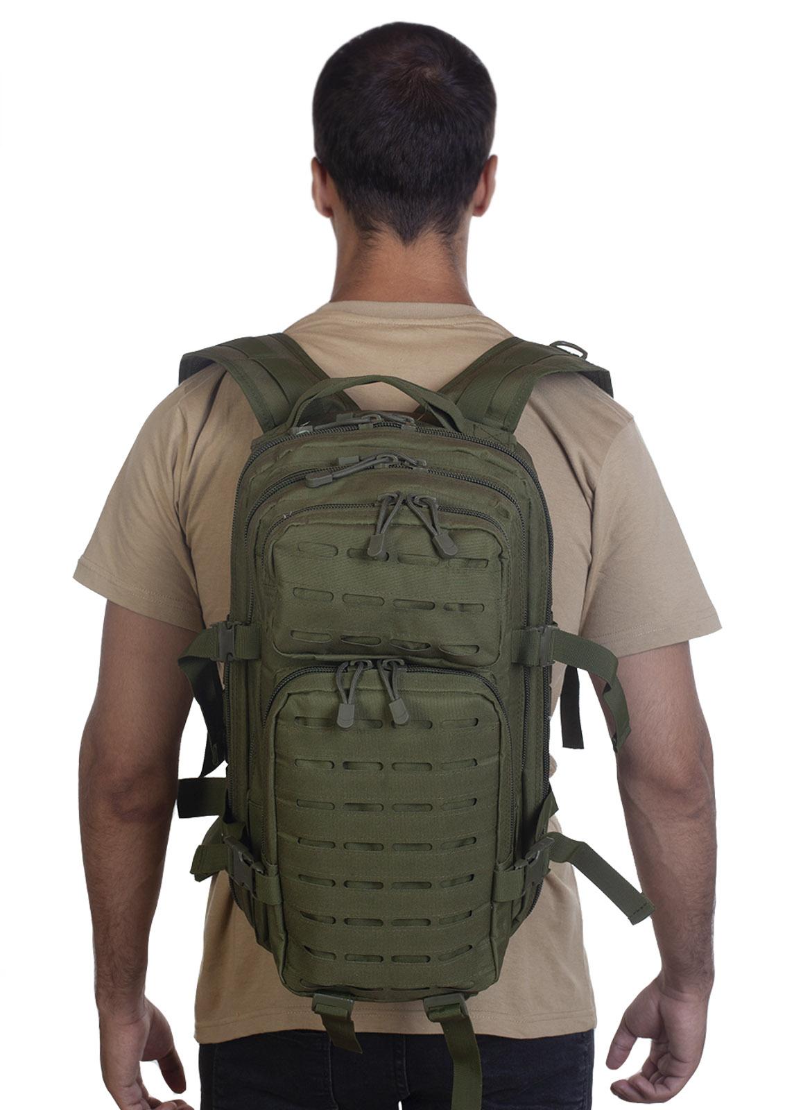 Малообъемный штурмовой рюкзак хаки-олива - в розницу и оптом