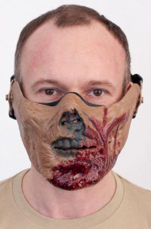 Маска на пол лица Зомби
