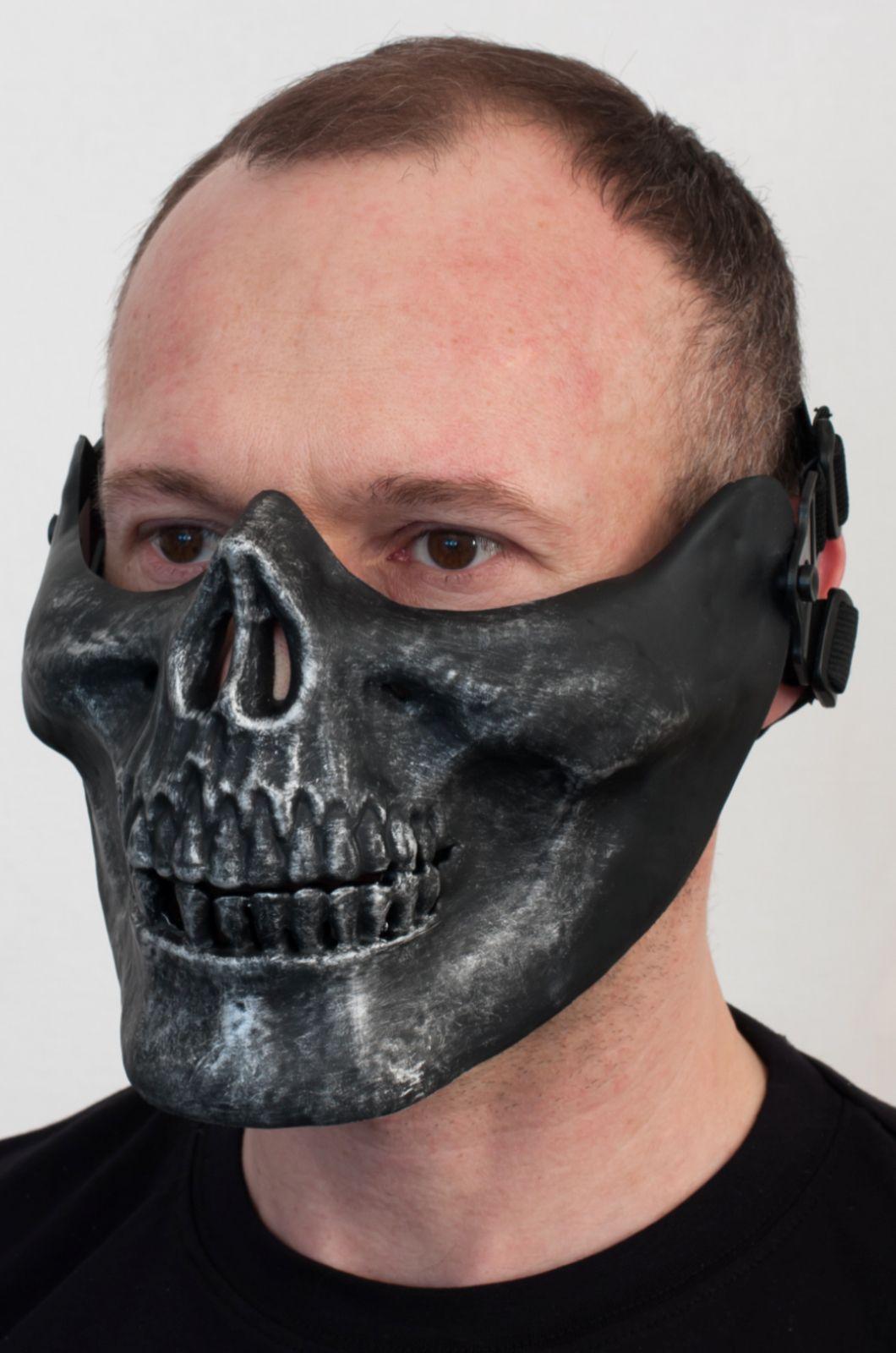 """Купить маску на половину лица """"Череп"""" по выгодной цене"""