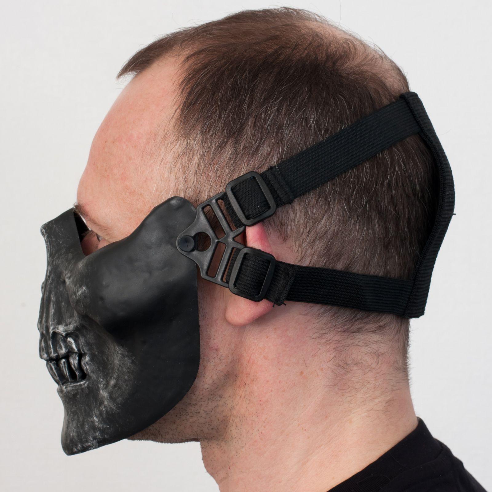 """Заказать маску на половину лица """"Череп"""""""