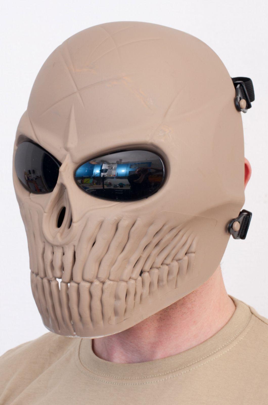 Полнолицевая защитная маска в виде черепа из ударопрочного пластика