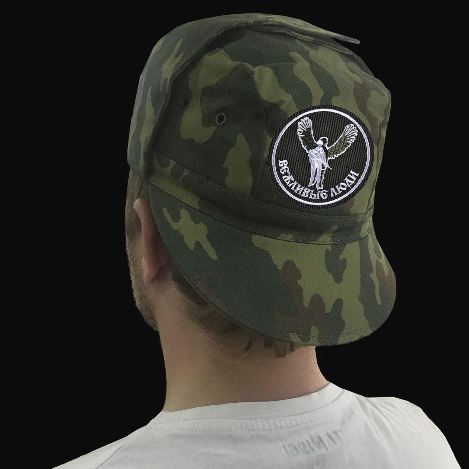 Продажа кепок и других товаров в дизайне «Вежливые люди»
