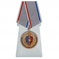 Медаль 100 лет Штабным подразделениям МВД России на подставке