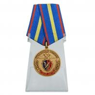 Медаль 100 лет Уголовному розыску МВД России на подставке