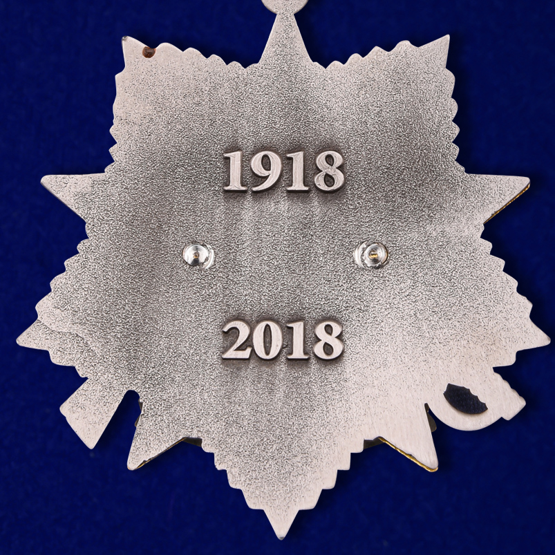 Медаль 100-летие Погранвойск в нарядном футляре из флока с прозрачной крышкой - купить с доставкой