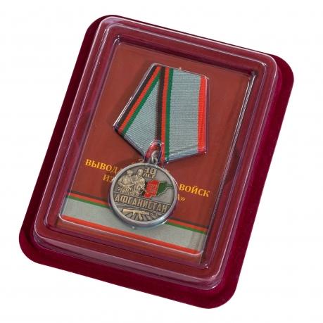 """Медаль """"30 лет. Афганистан"""" в наградном бордовом футляре"""