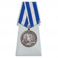 Медаль 300 лет Российскому флоту на подставке