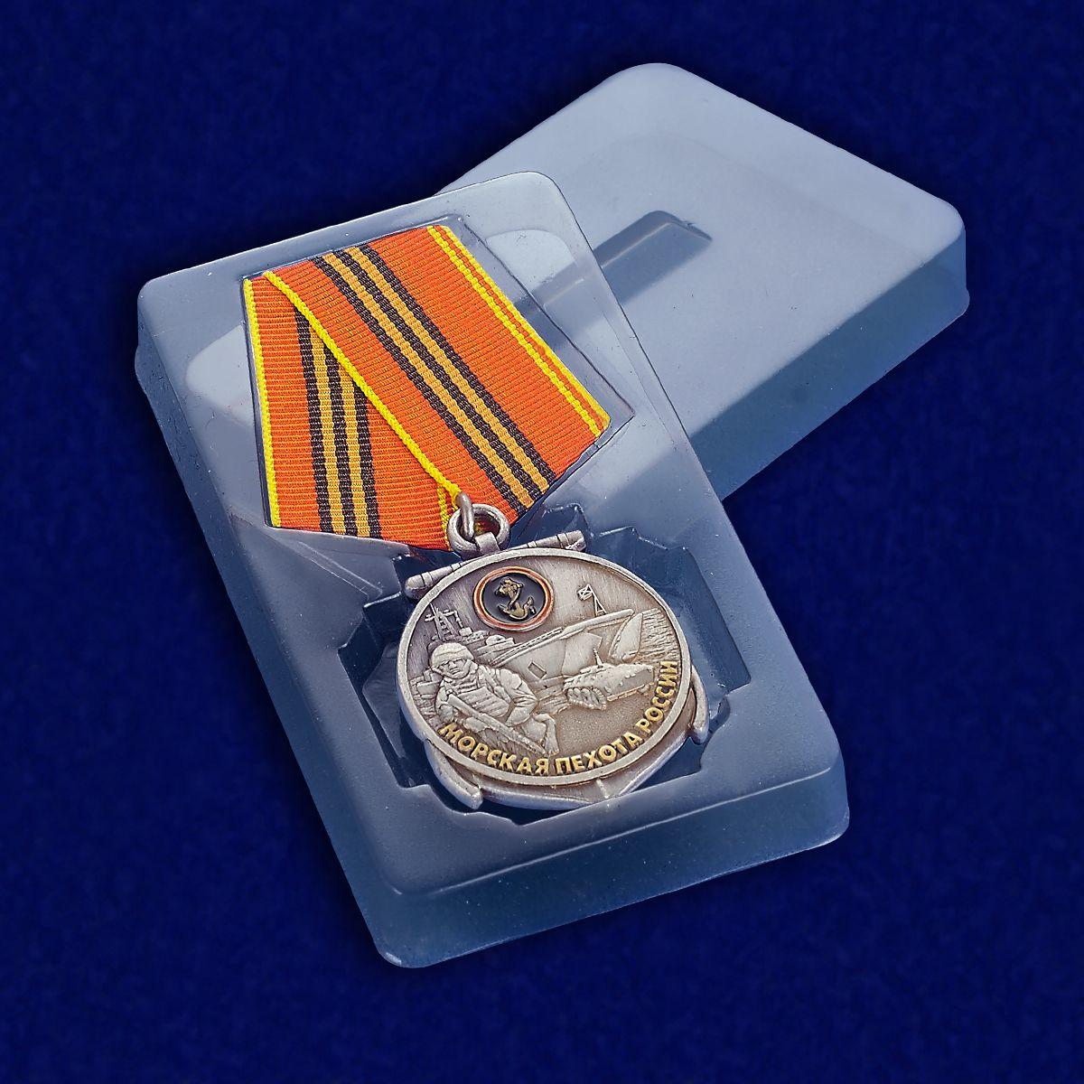 Медаль 310 лет Морской пехоте - в футляре
