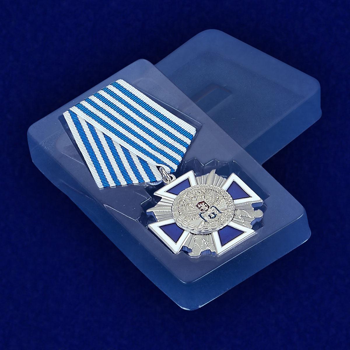 """Наградной крест """"За заслуги перед казачеством"""" 4 степени - вид в футляре"""